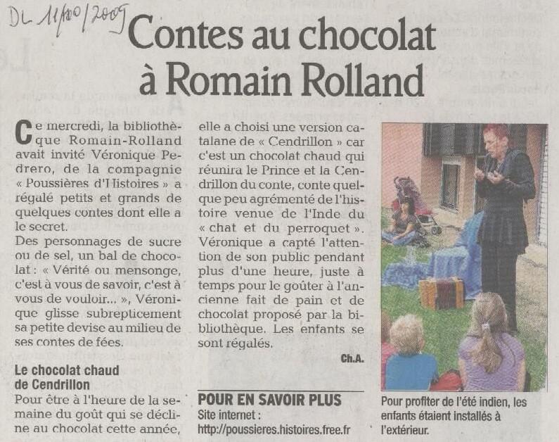 10/09 -Dauphiné Libéré : MJCRomain Rolland - St Martin d'Hères